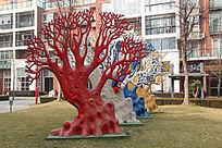 雕塑-生活树