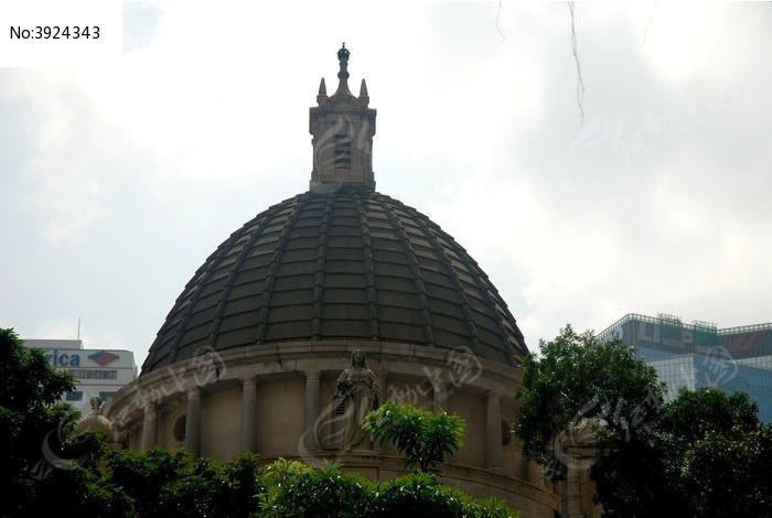 立法会的圆顶建筑图片