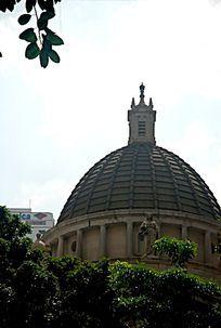 立法会建筑穹顶外景