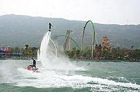 珠海海洋公园水上飞人