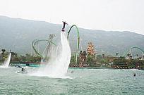 珠海海洋公园水上飞人表演