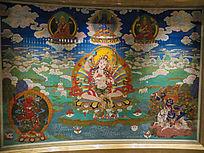 敦煌壁画妈祖与众佛