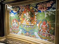 敦煌壁画牡丹佛像