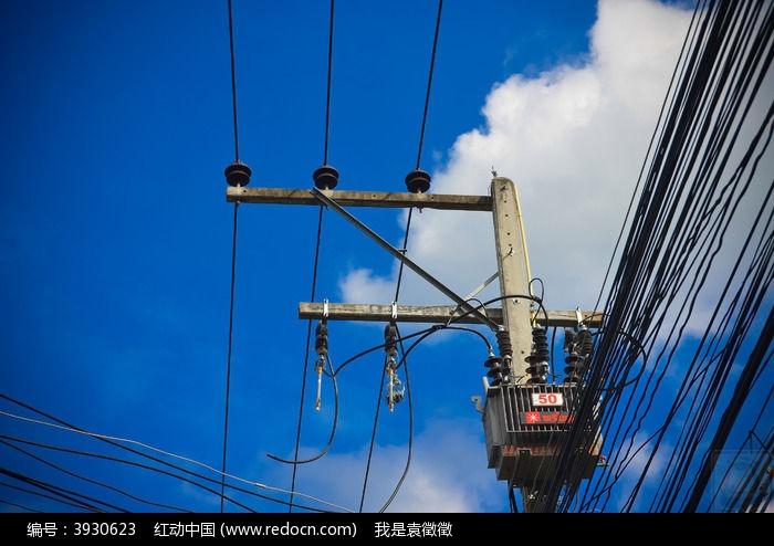 高压电线杆子图片