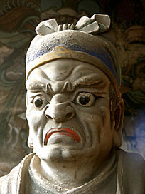 平遥城隍庙雕塑面部特写