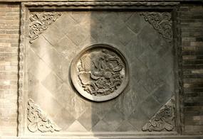 平遥城隍庙鲤鱼石刻隔断墙