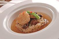 松茸汁天皇贝配腊味糯米饭