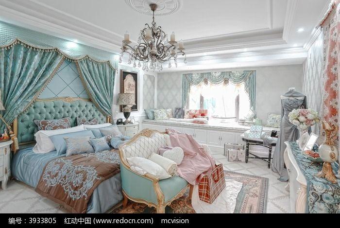 卧室 欧式大床图片,高清大图