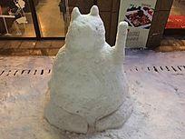 雪后的雪人