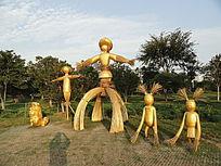 稻草人雕塑
