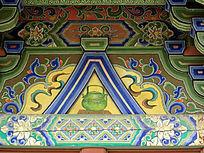 绿色酒壶为主题的壁画
