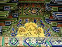 骑毛驴老者为中心的壁画
