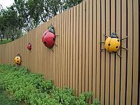 七星瓢虫景观墙体