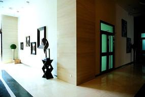 上海108创意广场室内石材装饰瓷砖摄影