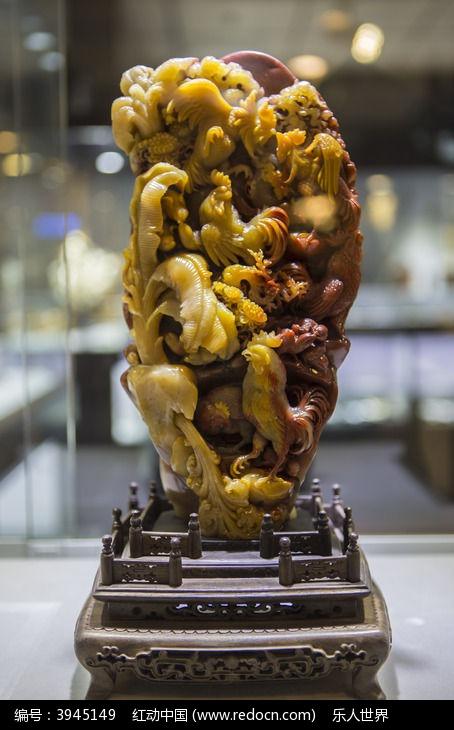 雄鸡玉石雕刻图片