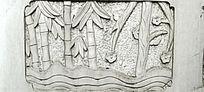 竹子纹样石刻