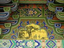 古树为中心的壁画
