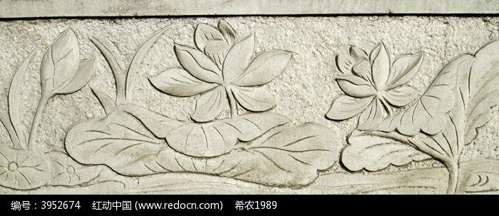 精致的莲花石刻图片,高清大图