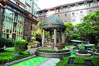 上海徐汇苑至尊公寓园林景观局部