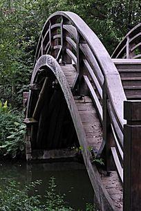 毛家埠的木拱桥