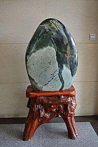 山石欣赏玉石实木托树根根雕