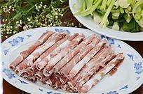食材牛肉卷牛肉片图片
