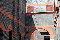 石库门弄堂的墙