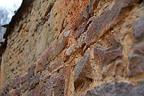 土坯石头墙