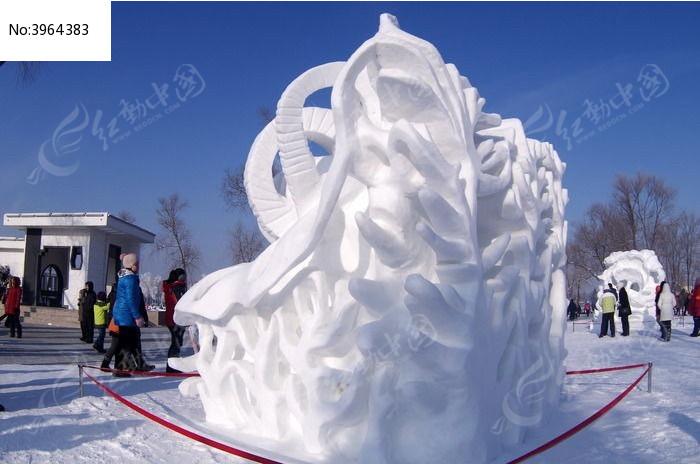 部队雪雕手绘图