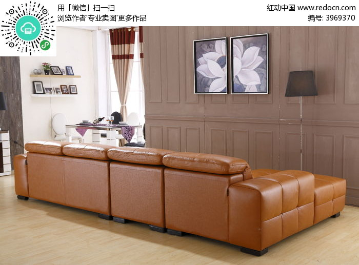 客厅沙发背面图片