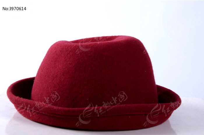 一顶红色礼帽图片