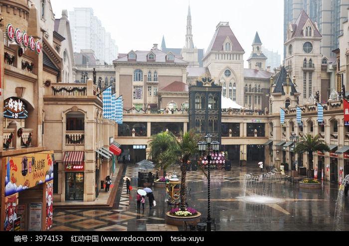 欧式风格的商业广场图片