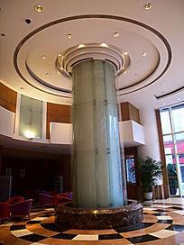 重庆海逸酒店大堂的立柱