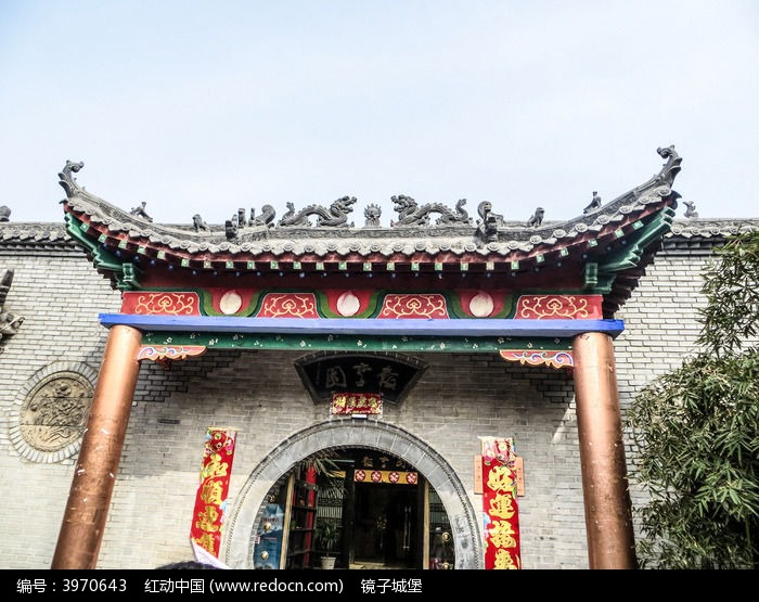 中式建筑房顶屋檐图片