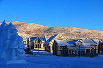 别墅区雪景