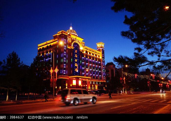 欧式建筑夜景图片,高清大图