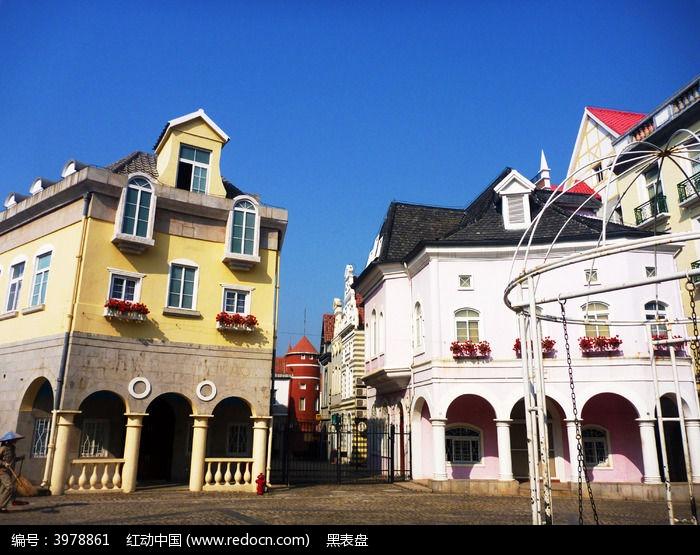 欧式小镇建筑图片