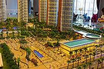 三亚岭海小区项目沙盘模型图