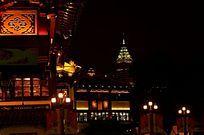 上海豫园夜间景观