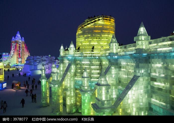 彩色的城堡图片