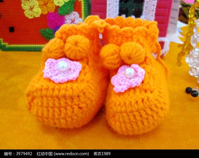 黄色手工儿童鞋图片