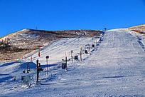 滑雪场雪景