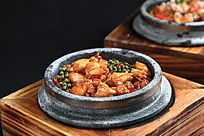 青花椒焗田鸡