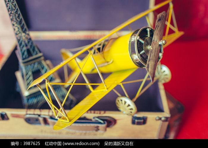 手工复古飞机模型