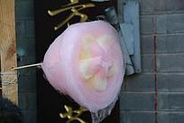 五颜六色花朵形状的棉花糖