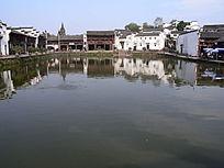 东阳诸葛八卦村的小镇湖景
