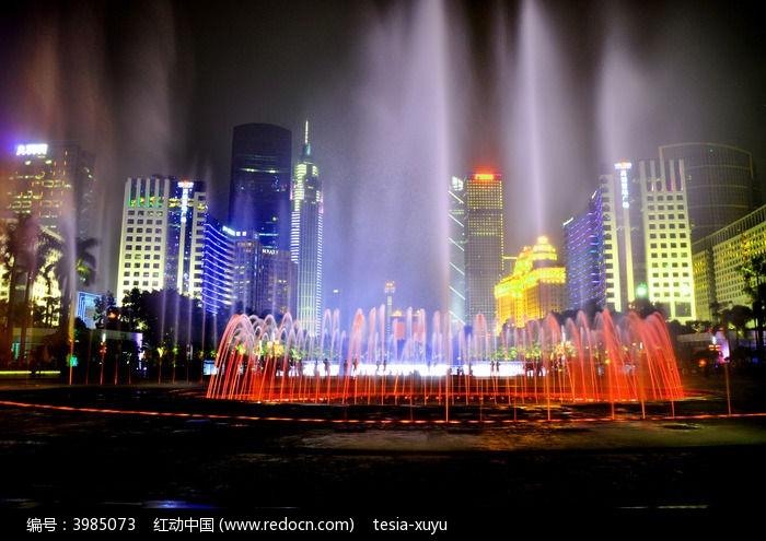 繁华城市夜景风光全景