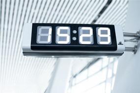 公共场所机场数码电子钟