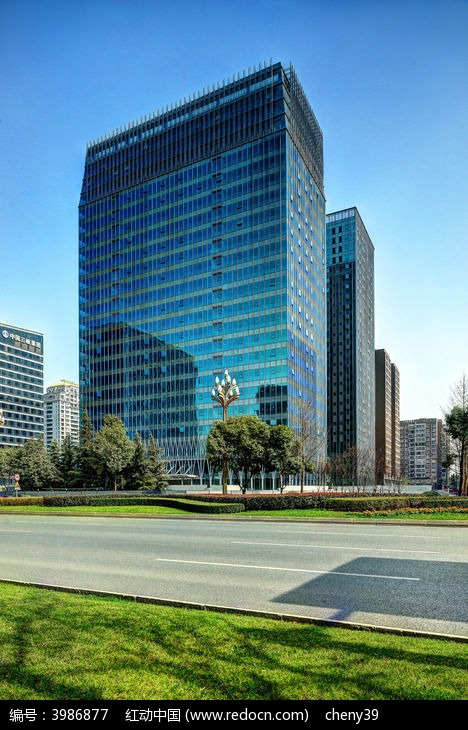 成都高新区现代办公楼图片