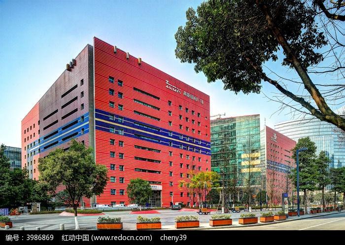 成都高新园区创意建筑高清图片下载_红动网